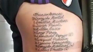 El tatuaje de un hincha de River Plate