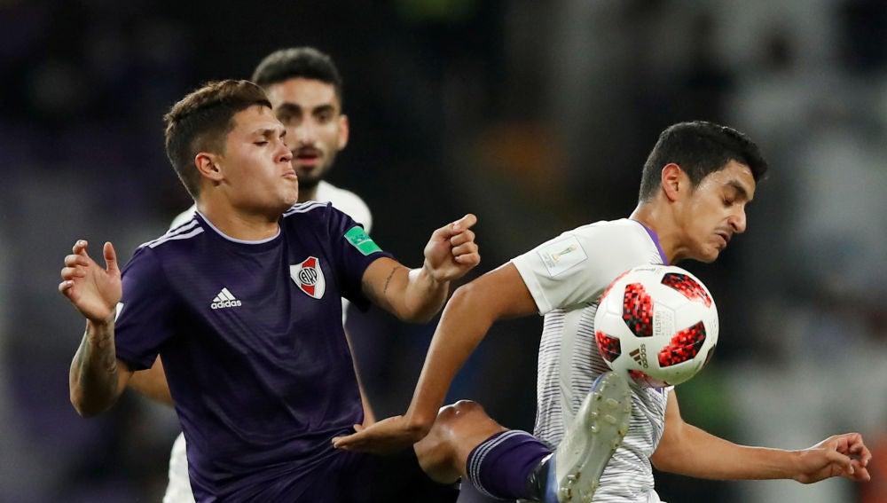 Momento del partido entre River Plate y Al Ain