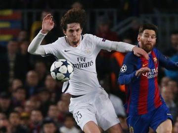 Adrien Rabiot, durante un partido contra el Barcelona