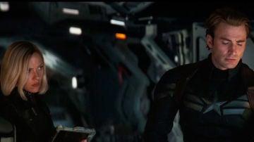 Viuda Negra y Capitán América en 'Vengadores: Endgame'