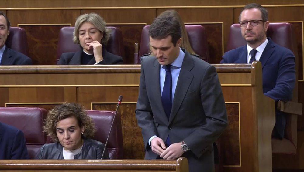 """Casado reprocha a Sánchez la reunión con Torra, un político que a su juicio busca """"una guerra civil"""""""