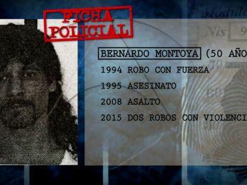 La ficha policial de Bernardo Montoya: Estuvo en prisión por robos, por asesinato y por un intento de agresión sexual