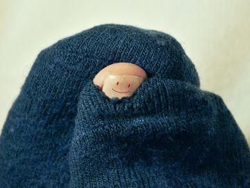 Calcetines con agujero
