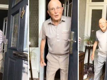 Graba las reacciones de su abuelo