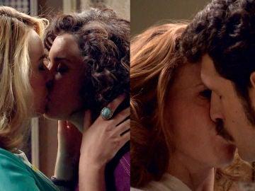 Natalia besa a Carlos y... ¡Amelia besa a Luisita!