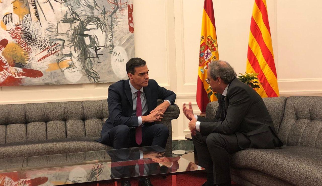 Investidura Pedro Sánchez: Reunión entre Pedro Sánchez y Quim Torra