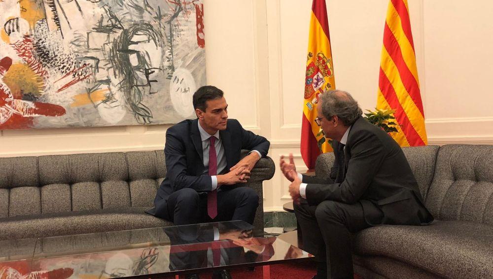 Reunión entre Pedro Sánchez y Quim Torra