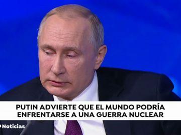 Putin advierte que el mundo podría enfrentarse a una guerra nuclear