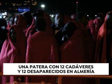 Doce muertos y 11 desaparecidos de una patera rescatada en el mar de Alborán
