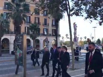 VÍDEO Pedro Sánchez llega caminando a la Llotja del mar donde se ha celebrado el Consejo de Ministros