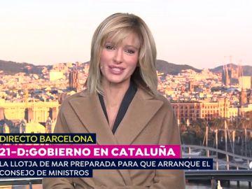 Susanna Griso presenta 'Espejo Público' desde Barcelona para vivir el 21-D en directo