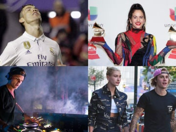 Cristiano Ronaldo, Rosalia, Avicii y Justin Bieber