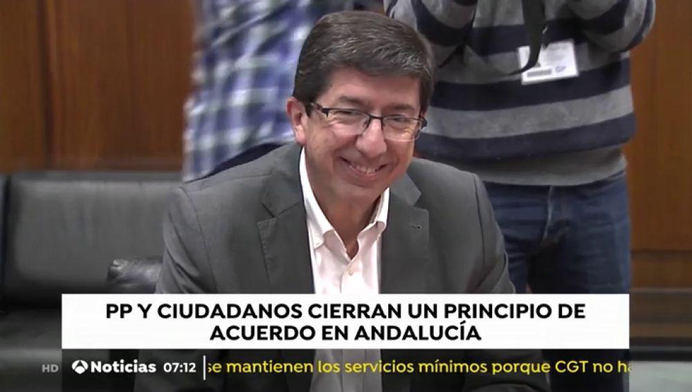"""El PP y Ciudadanos alcanzan un """"principio de acuerdo programático"""" en Andalucía que prevén cerrar este viernes"""
