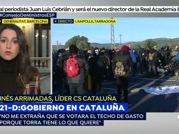 """Inés Arrimadas: """"Cuando Pedro Sánchez habla con Torra cree que está hablando con Cataluña y se equivoca"""""""