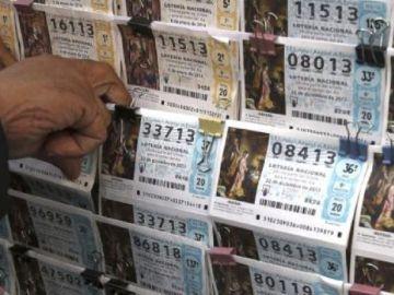 Imagen de archivo de décimos de la Lotería de Navidad