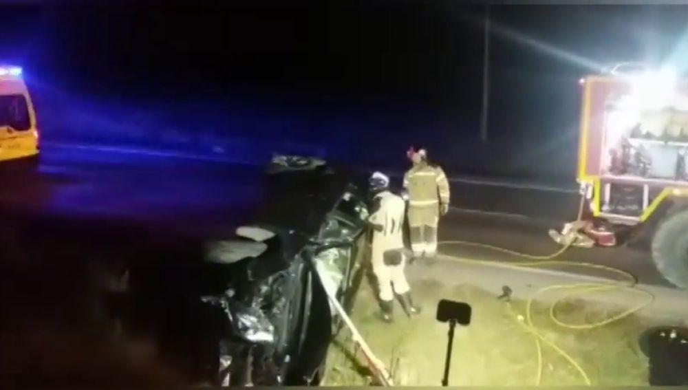Un herido en un accidente de tráfico en la N-234, a unos kilómetros de Calatayud