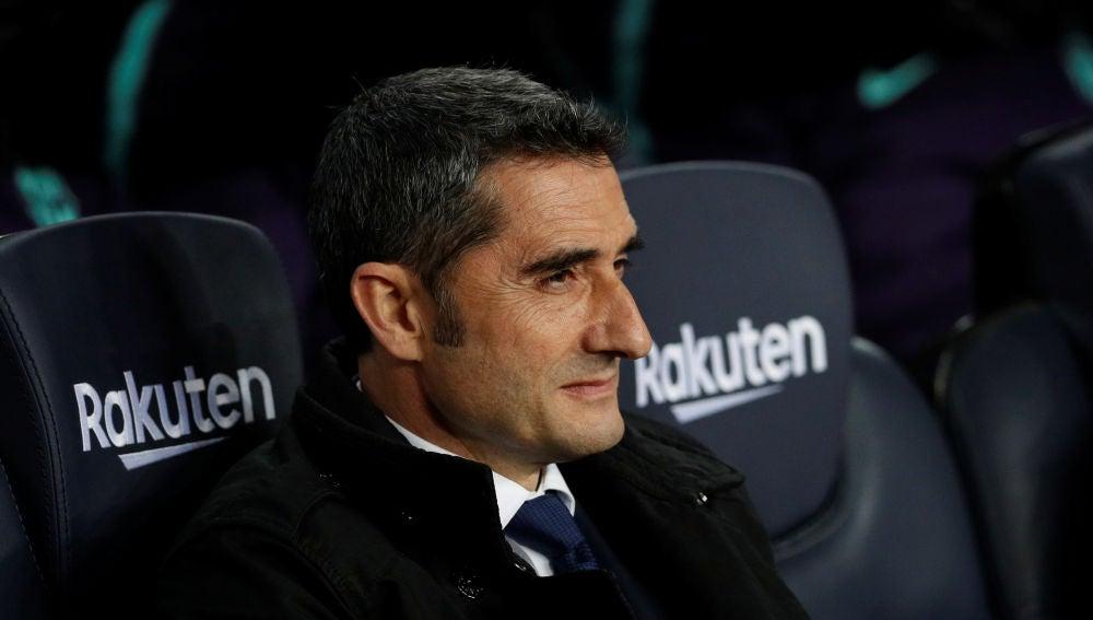 Ernesto Valverde, durante el partido contra el Celta