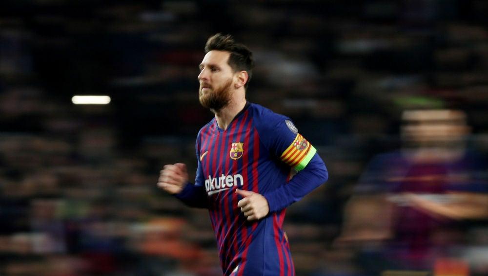 Leo Messi, durante un partido