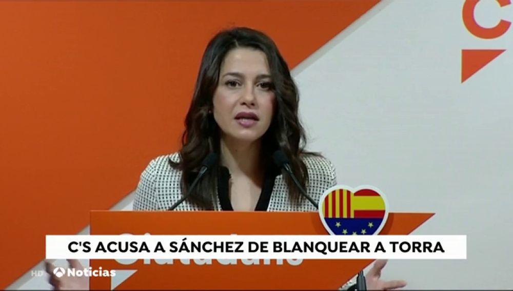 """Arrimadas: """"Ayer fue el día soñado por Torra con una Cataluña gobernada por CDR"""""""