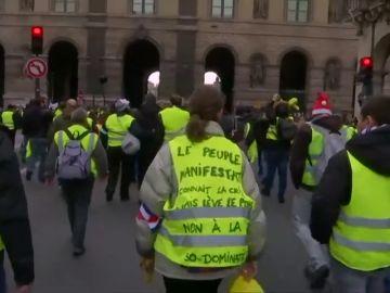 Al menos 30 detenidos en la sexto sábado de protestas de lo 'chalecos amarillos'
