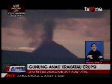El volcán Anak Krakatoa ha provocado un tsunami en Indonesia que deja más de 200 muertos