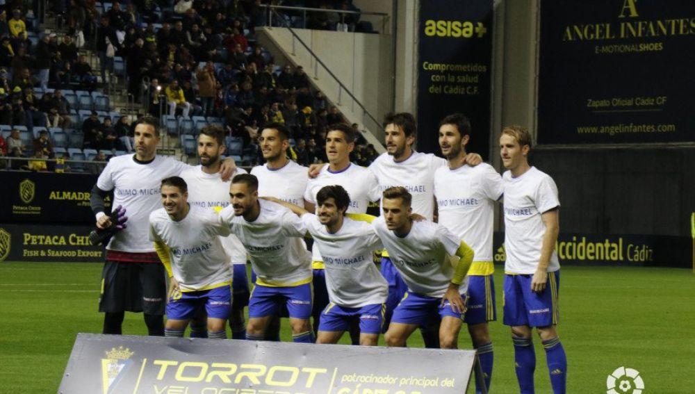 El mensaje de los jugadores del Cádiz a Michael Robinson