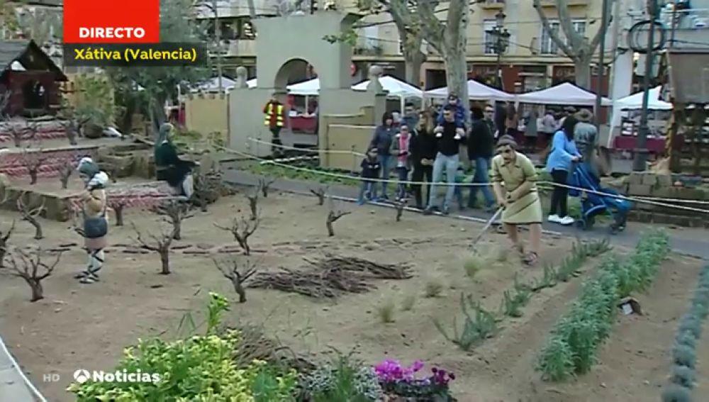 El belén más grande de España, con figuras a escala natural y animales, está en Valencia