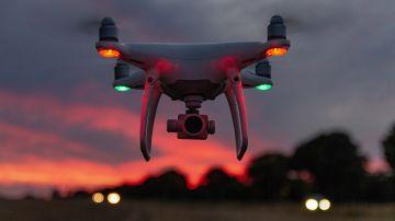 Dron led, atardecer