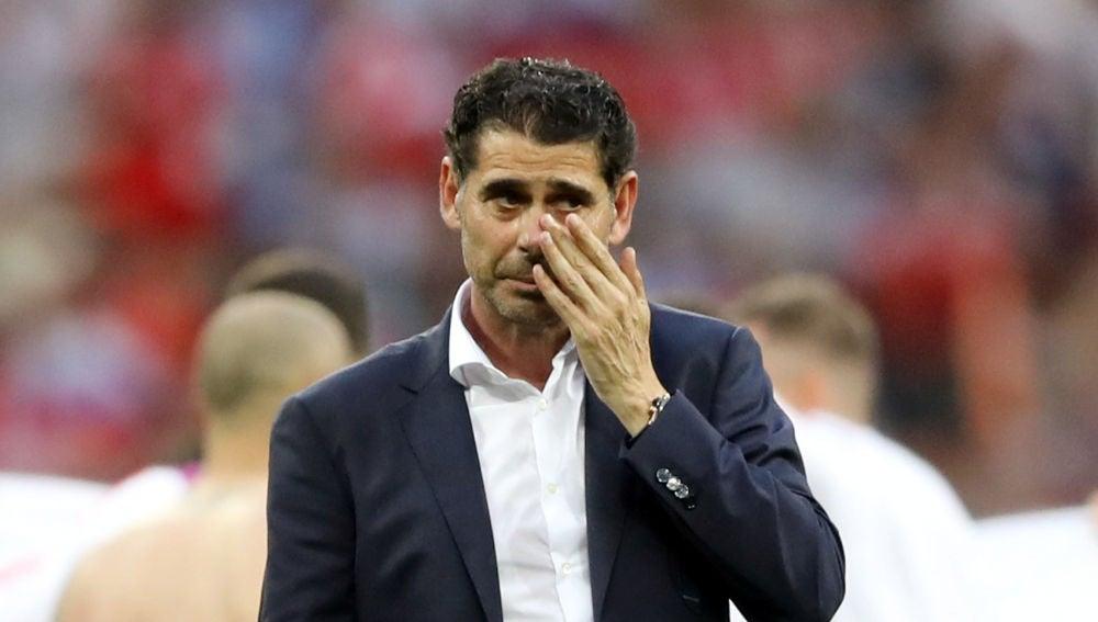 Fernando Hierro, tras la eliminación de España en el Mundial de Rusia