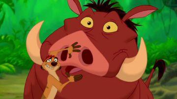 Timón y Pumba en 'El Rey León'
