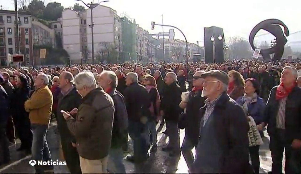 Jubilados piden 'carbón' para los que ponen trabas a las pensiones de 1.080 euros