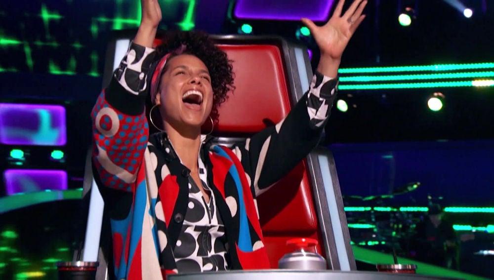 Alicia Keys alucina con la audición del que sería el ganador de 'The Voice USA' 2017