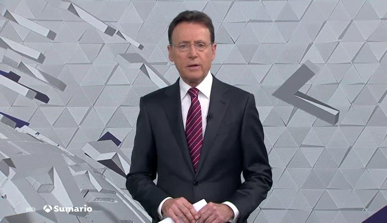 Matías Prats presentando Antena 3 Noticias Fin de Semana