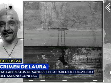 Sangre de Laura Luelmo en las paredes de la casa de Bernardo Montoya.