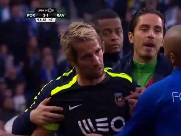 Coentrao, durante el partido contra el Oporto