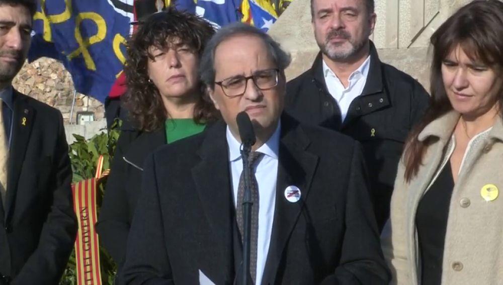 Torra anuncia que entregó a Sánchez una propuesta de 21 puntos que plantea una mediación