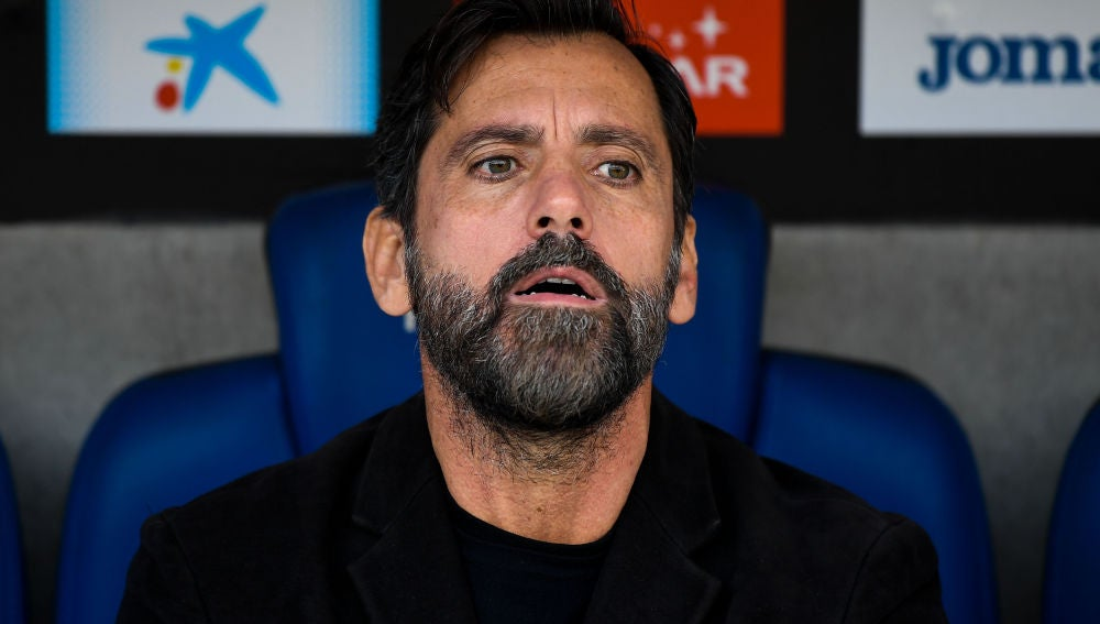Quique Sánchez Flores, en el banquillo durante un partido