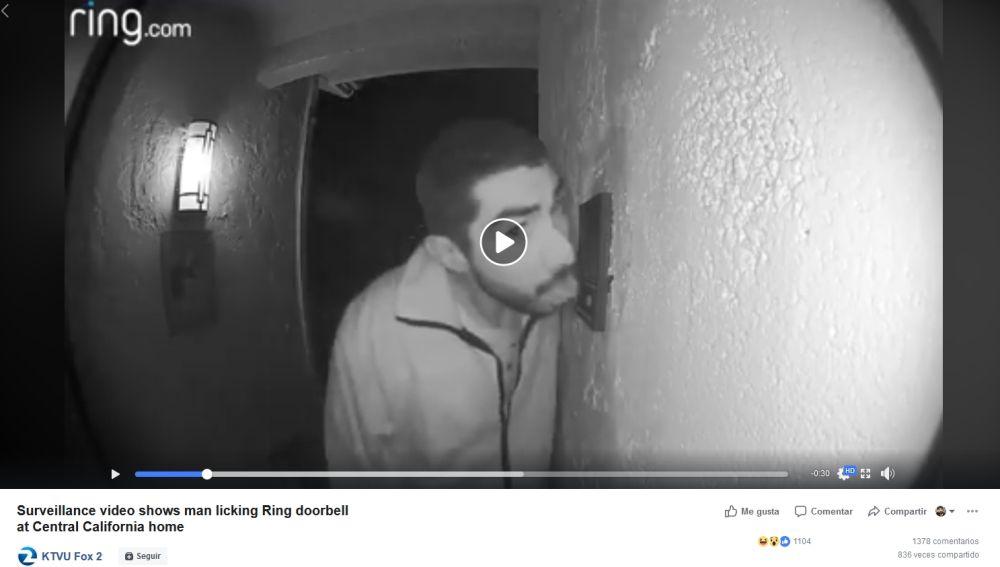 El merodeador grabado por la cámara de seguridad