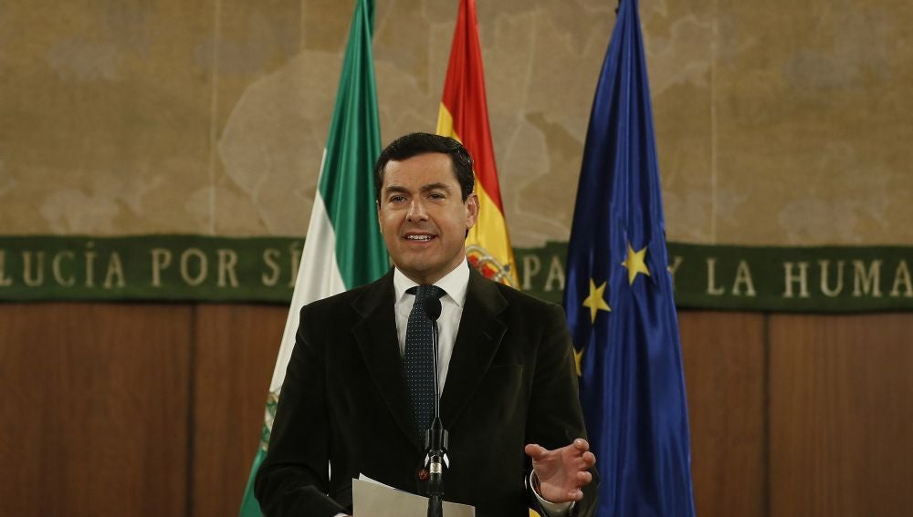 El líder del PP-A, Juanma Moreno