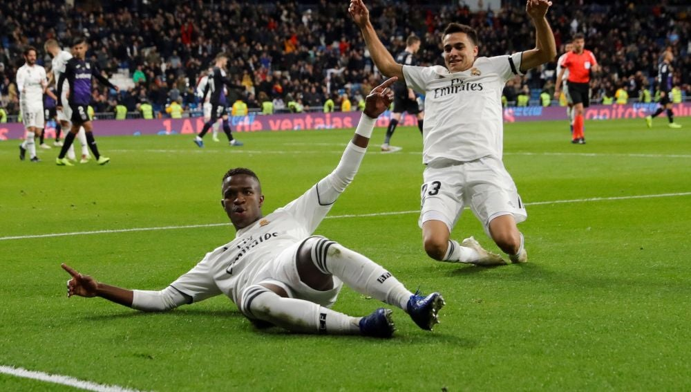Vinicius celebra su gol ante el Leganés