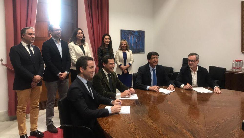 Reunión de PP y Ciudadanos
