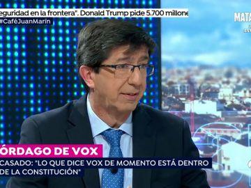 """Marín considera """"completamente inaceptables las 19 medidas propuestas por Vox para el acuerdo de Gobierno"""""""