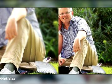 El error de photoshop en una foto oficial del primer ministro australiano