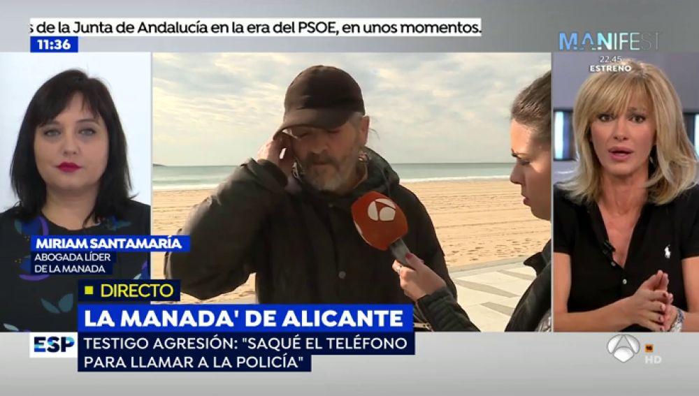 """El testigo que socorrió a la víctima de 'La Manada de Alicante': """"Uno la inmovilizó y el resto la tocaba y la magreaba"""""""