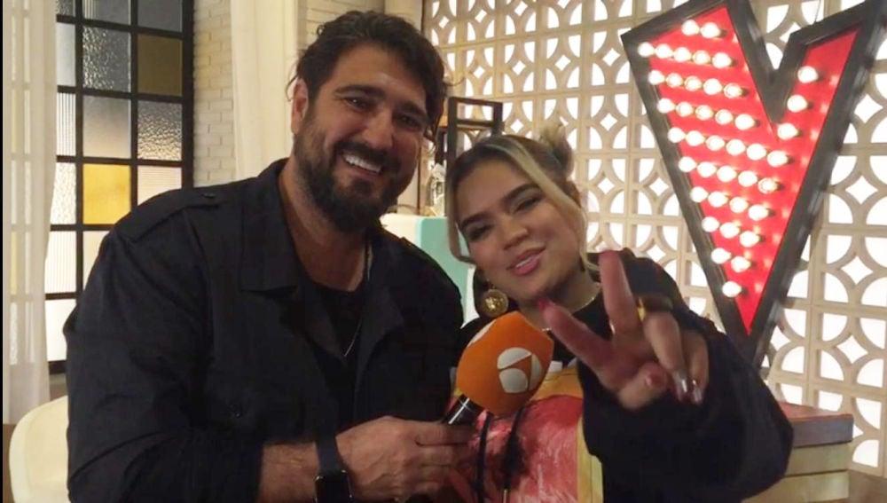 Antonio Orozco y Karol G 'La Voz'