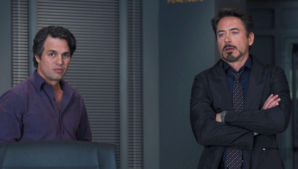 Bruce Banner y Tony Stark en 'Vengadores: La Era de Ultrón'