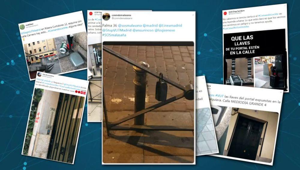 REEMPLAZO Crean 'comandos Loctite' contra los pisos turísticos