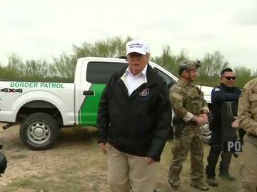 Trump viaja a la frontera con México y amenaza con declarar emergencia nacional para construir el muro