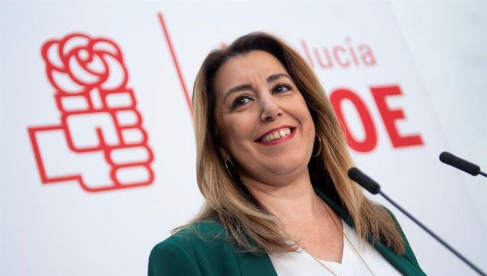 Noticias 1 Antena 3 (11-01-19) Susana Díaz niega discrepancias con el PSOE por mantenerse al frente el partido en Andalucía