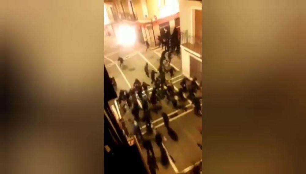Incidentes en Pamplona tras una protesta por la clausura del edificio okupado palacio de Rozalejo